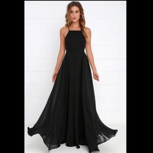 Lulus mythical kind of love black dress
